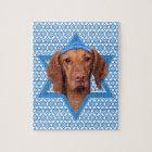 Hanukkah Star of David - Vizsla - Reagan Jigsaw Puzzle