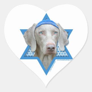 Hanukkah Star of David - Weimaraner Sticker