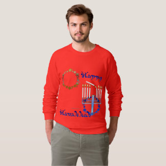 Hanukkah Stars Men's Raglan Sweatshirt