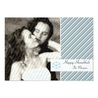 Hanukkah Stripes Card 13 Cm X 18 Cm Invitation Card