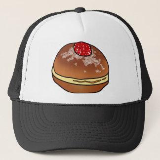 Hanukkah Sufganiyah Jelly Donut Trucker Hat