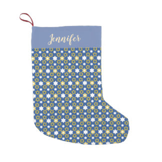 Hanukkah themed Star of David Jewish Small Christmas Stocking