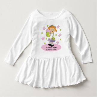 Hanukkah Toddler's Ruffle Dress Personalize