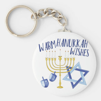 Hanukkah Wishes Key Ring