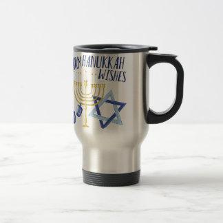 Hanukkah Wishes Travel Mug