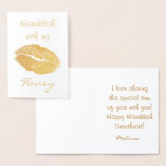 Hanukkah with my Honey Foil Card