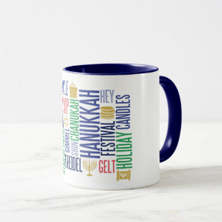 Hanukkah Words Holiday Coffee Mug