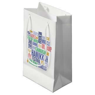 Hanukkah Words Holiday Gift Bag
