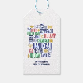 Hanukkah Words Holiday Gift Tags