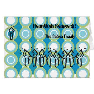 hanukkahcard, Hanukkah Sameach!, The Cohen Family Note Card
