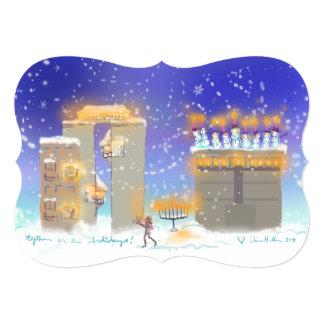Hanukkahville Hanukkah CARD 2015 13 Cm X 18 Cm Invitation Card