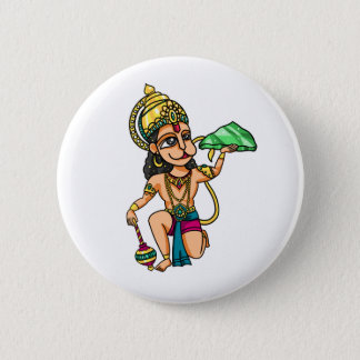 Hanuman 6 Cm Round Badge