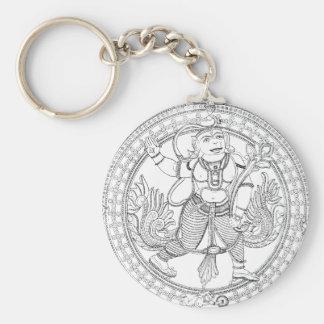 Hanuman Monkey God Basic Round Button Key Ring