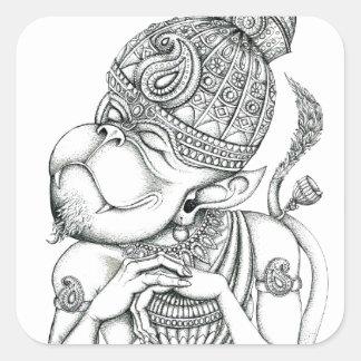 Hanuman, Monkey God Square Sticker