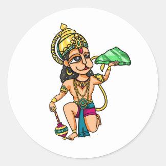 Hanuman Round Sticker