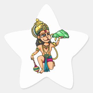 Hanuman Star Sticker