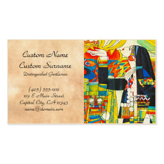 Hao Ping Memorial Ceremony Of Water Dragon Business Card Templates