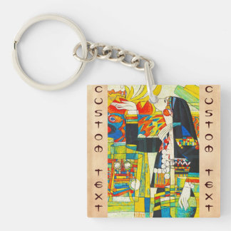 Hao Ping Memorial Ceremony Of Water Dragon Double-Sided Square Acrylic Key Ring
