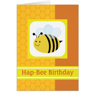 Hap-Bee Birthday Bumblebee Honeycomb Card