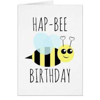 Hap Bee Birthday Greeting Card