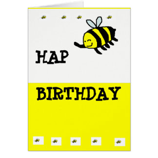 "HAP ""BEE"" Birthday Greeting Card"
