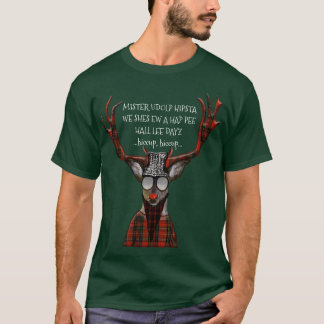 Hap Pee Hall Lee Dayz Funny Hipster Deer T-Shirt