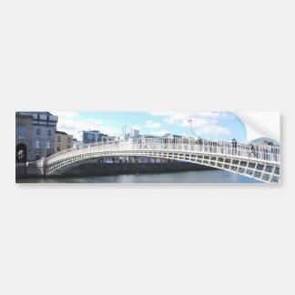 Ha'penny Bridge - Dublin Ireland on The Liffey Bumper Sticker