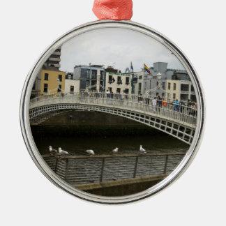 Hapenny Bridge Dublin Metal Ornament