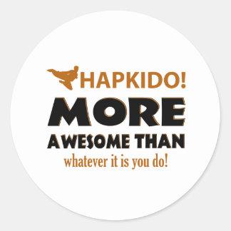 HAPKIDO! DESIGN ROUND STICKER