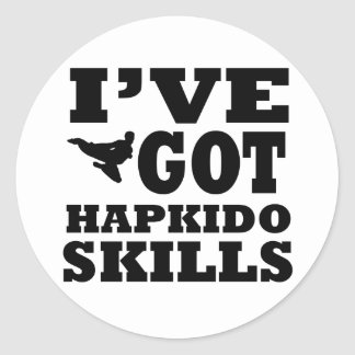 Hapkido Martial Arts designs Classic Round Sticker