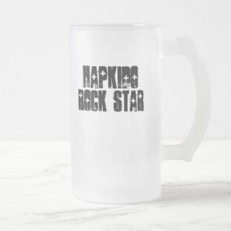 Hapkido Rock Star Frosted Glass Beer Mug