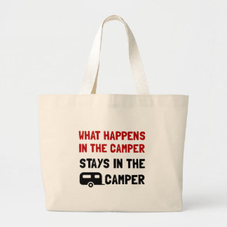 Happens Stays In Camper Large Tote Bag