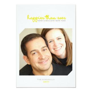 Happier than Ever | Brilliant New Years Photo Card 13 Cm X 18 Cm Invitation Card