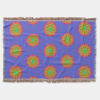 Happiest Day Mandala Orange Purple Blanket