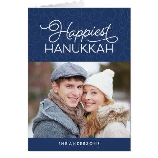 Happiest Hanukkah | Folded Holiday Photo Card