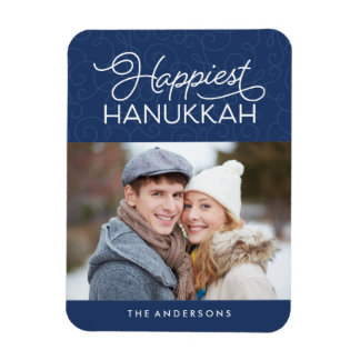 Happiest Hanukkah | Holiday Photo Magnet