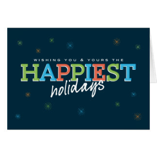 Happiest Holidays Navy Card