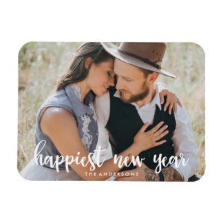 Happiest New Year | Holiday Photo Magnet