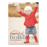Happiest of Holidays | Holiday Photo Greeting Custom Invite