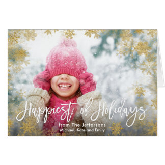 Happiest of Holidays Photo Card
