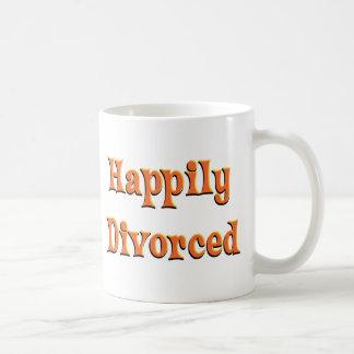 Happily  Divorced Basic White Mug