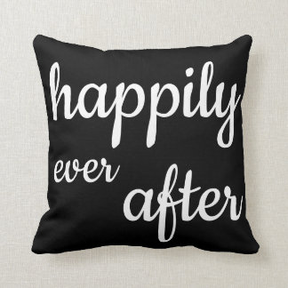 Happily Ever After Black & White Reversible Pillow
