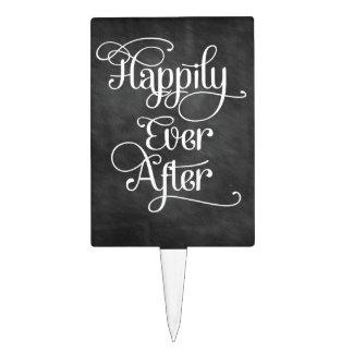 Happily Ever After Chalkboard Cake Picks