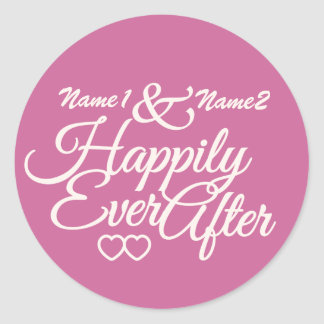 Happily Ever After custom stickers