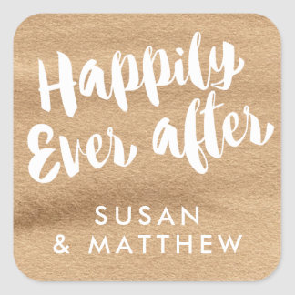 Happily Ever After, Favor Tag Mocha Watercolor