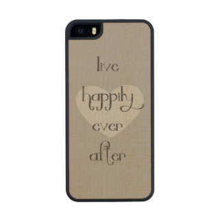 Happily Ever After Heart Carved® Maple iPhone 5 Slim Case