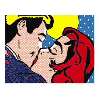 Happily Ever After Pop Art Postcard