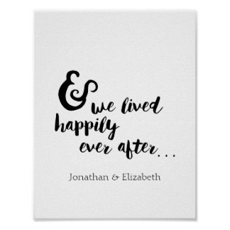 Happily Ever After Romantic Quote Poster
