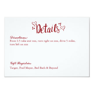 Happily Ever After Wedding Details Card