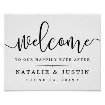 Happily Ever After | Wedding Welcome Sign Poster